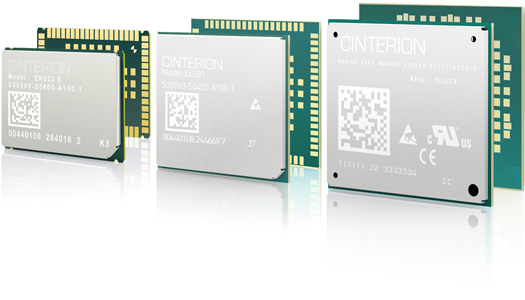 Image of three different types of embedded wireless modules manufactured by Gemalto and used for cellular communications