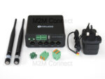 Image of Robustel R1520 and included accessories in standard pack for UK & Ireland