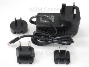 Image of Mains Power Supply for Cinterion Gemalto and Siemens Modems with universal plug adapters for each region UK EU Australia and USA